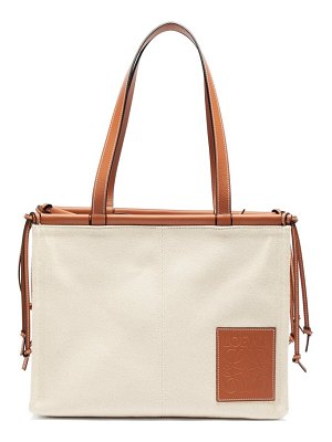 Loewe cushion large canvas tote bag