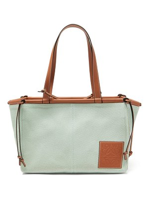 Loewe cushion small canvas tote bag