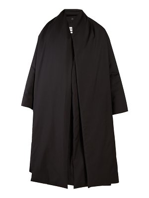 Loewe Detachable-scarf open-front wool coat