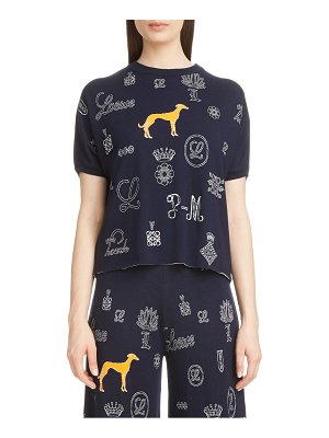 Loewe dog & logo knit crop sweater