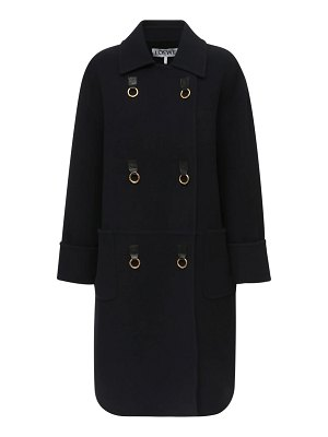 Loewe Double breasted wool blend coat