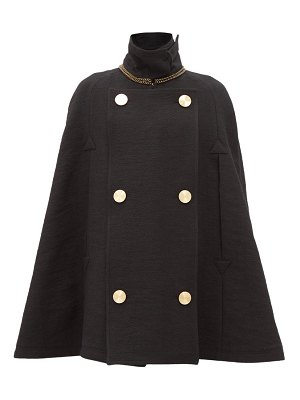 Loewe double-breasted wool cape
