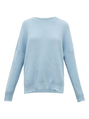 Loewe dropped-shoulder ribbed cotton sweater