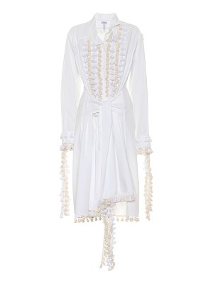 Loewe embellished cotton-blend dress
