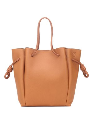 Loewe flamenco knot small leather tote