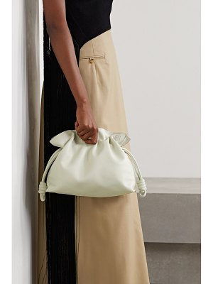 Loewe flamenco leather clutch - off-white