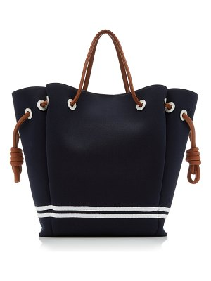 Loewe flamenco striped canvas tote