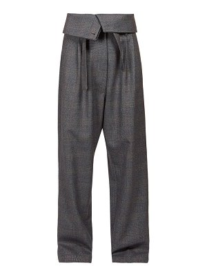 Loewe folded waist twill straight leg trousers