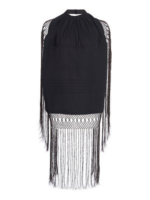 Loewe fringed cotton draped top