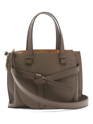 Loewe gate small grained-leather tote bag