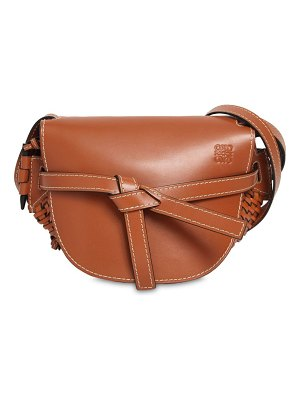 Loewe Gate small leather bag w/ woven details