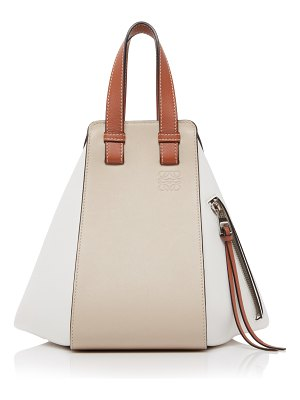 Loewe small hammock color-block leather bag