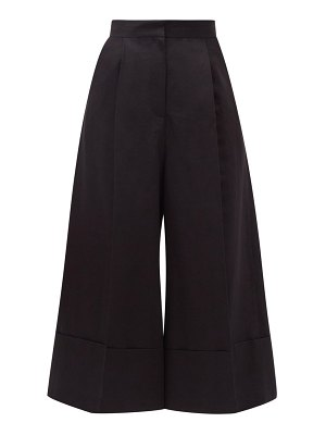 Loewe high-rise cotton-blend culotte trousers