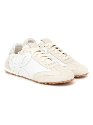 Loewe leather and suede sneakers