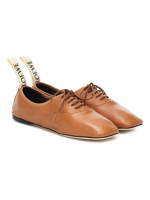Loewe leather derby shoes