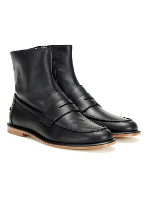 Loewe leather loafer ankle boots