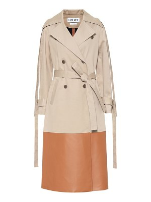 Loewe Leather-trimmed trench coat