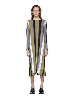 Loewe multicolor striped rib knit dress
