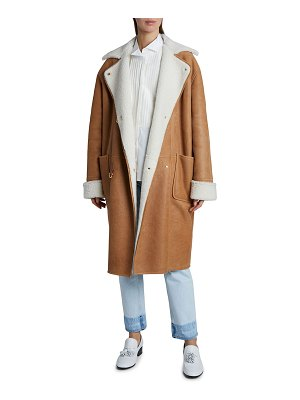 Loewe Oversized Shearling Leather Coat