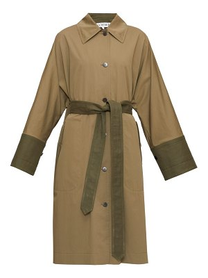 Loewe panelled cotton trench coat