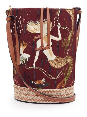 Loewe Paula's Ibiza gate mermaid-print canvas bucket bag