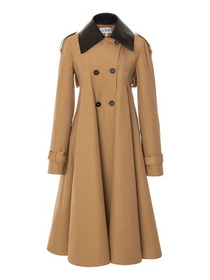 Loewe pleated cotton-blend trenchcoat