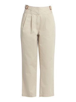 Loewe pleated cotton wide-leg trousers