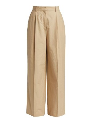 Loewe pleated wide-leg trousers