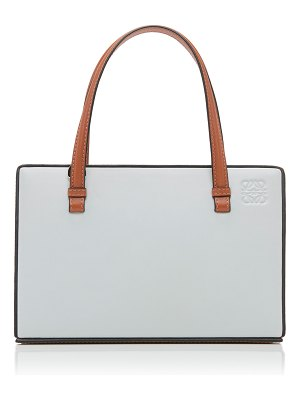 Loewe postal two-tone leather tote
