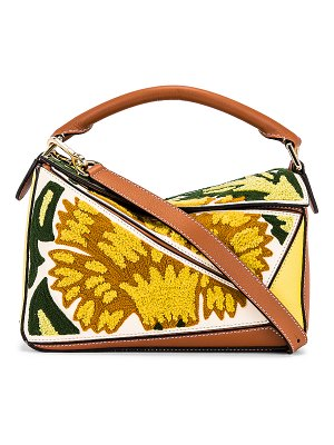 Loewe puzzle floral small bag