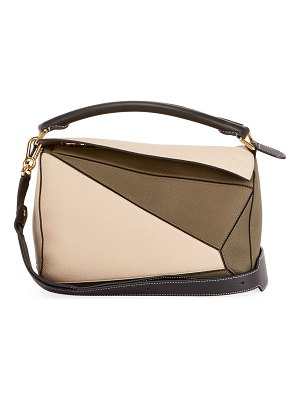 Loewe Puzzle Small Colorblock Grained Leather Satchel Bag
