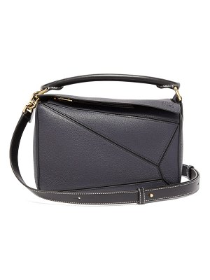 Loewe puzzle small grained leather cross body bag