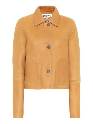Loewe shearling and leather jacket