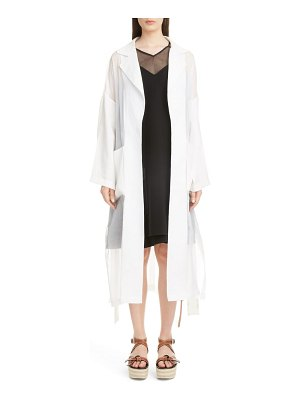 Loewe sheer cotton & linen trench coat