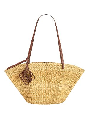 Loewe Shell Straw Basket Small Tote Bag