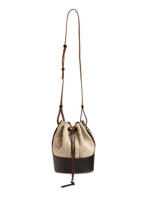 Loewe Small balloon anagram linen leather bag