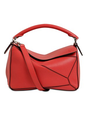 Loewe Small puzzle leather top handle bag