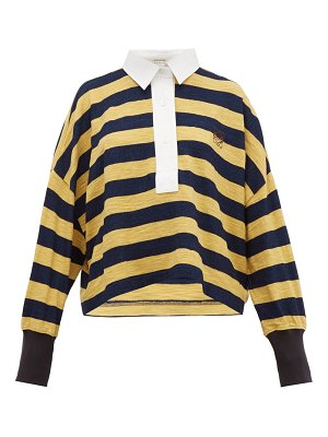 Loewe stripe cotton knitted polo top
