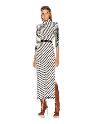 Loewe stripe high neck jersey dress