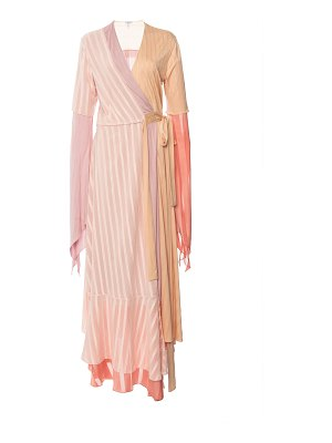 Loewe striped crepe de chine dress