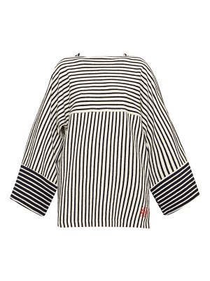 Loewe striped wide-sleeve cotton-terry t-shirt