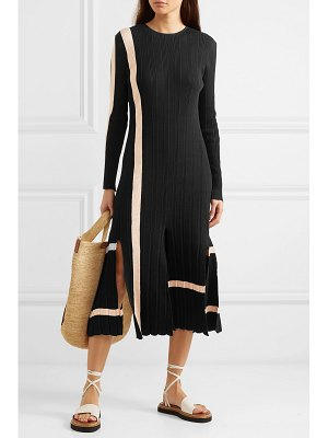 Loewe striped ribbed cotton midi dress