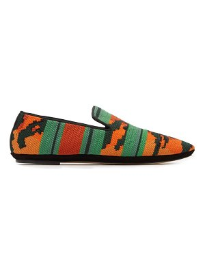 Loewe tiger print woven loafers