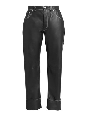 Loewe wide-leg leather trousers