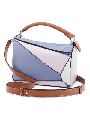 Loewe x paula's ibiza small puzzle leather shoulder bag