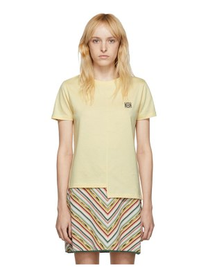 Loewe yellow asymmetric anagram t-shirt