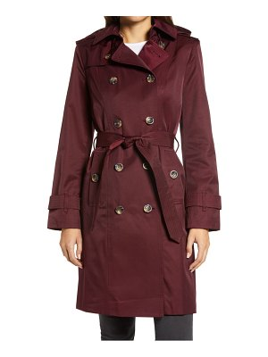 London Fog double breasted trench coat with removable hood