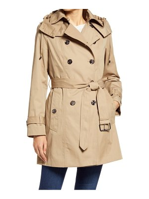 London Fog heritage silver button water repellent raincoat