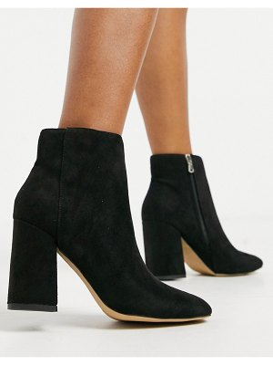 London Rebel heeled ankle boots in black