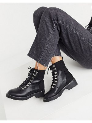 London Rebel lace-up boots in black